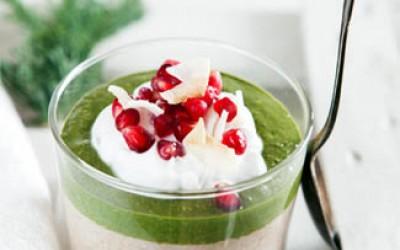 Buchweizen-Porridge mit Matcha