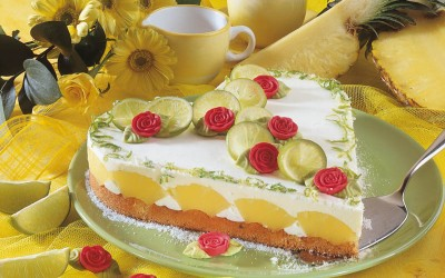 Limetten-Ananas-Herz