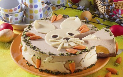 Osterhasen-Cappuccino-Torte