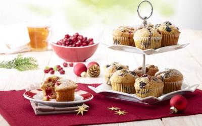 Cranberry-Muffins mit Honig