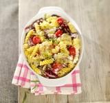 Radicchio-Tomaten-Gratin mit Fusilli