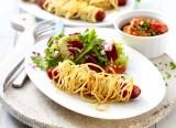 Chorizos im Spaghettimantel