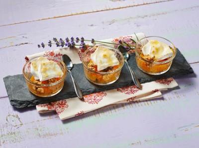 Orangen Walnuss Dessert gratiniert mit CHAVROUX
