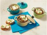 Französische Zwiebelsuppe mit Chavroux