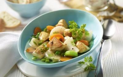 Hähnchentopf mit Mairübchen und Karotten