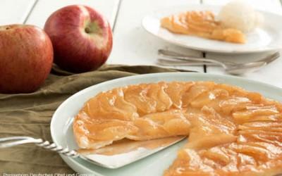 Apfel Tarte Tatin mit Chili-Eiscrème