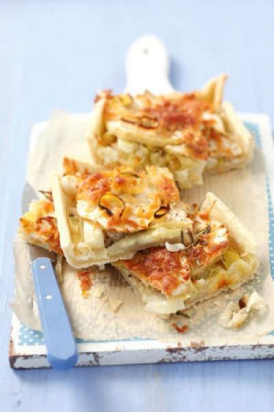 Lauch-Apfel-Tarte mit Rosmarin