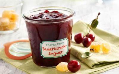 Fruchtaufstrich Sauerkirsch-Ingwer