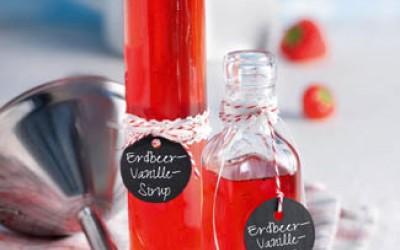 Erdbeer-Vanille-Sirup