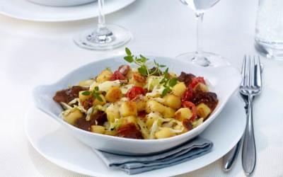 Wildgratin mit Kohl und Kartoffel-Gnocchi
