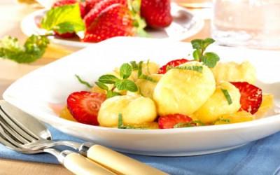 Süße Ananas-Kokos-Gnocchi