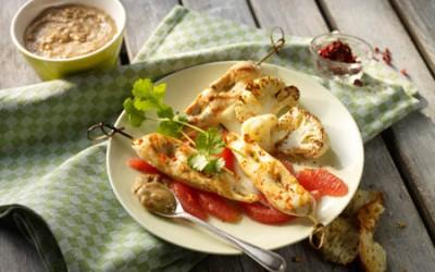 Thai-Hähnchenspieße mit Erdnusssauce