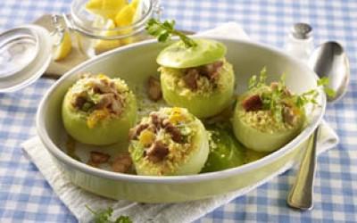 Gefüllte kleine Kohlrabi mit Couscous und Pute