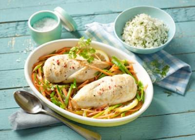 Hähnchenbrustfilets in Reiswein