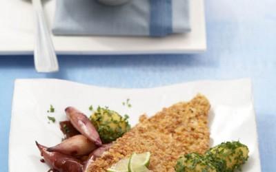Putenschnitzel in Haferflocken-Senf-Panade