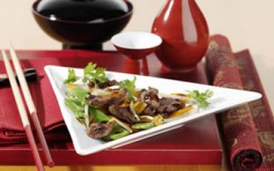 Wasabi-Ente aus dem Wok