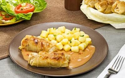 Kohlrouladen mit Kartoffel-Gnocchi