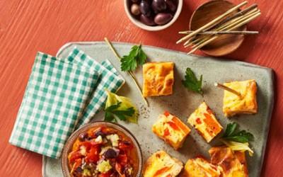 Möhren-Tortilla mit Schmortomaten-Salsa
