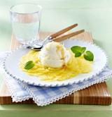 Ananascarpaccio mit Joghurt-Eis