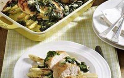 Spinat-Gorgonzola Hühnchen