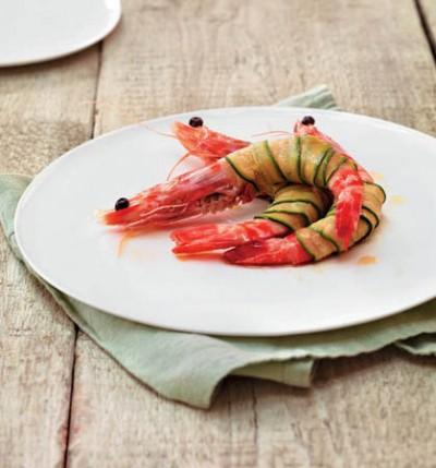 Riesengarnelen mit Zucchini