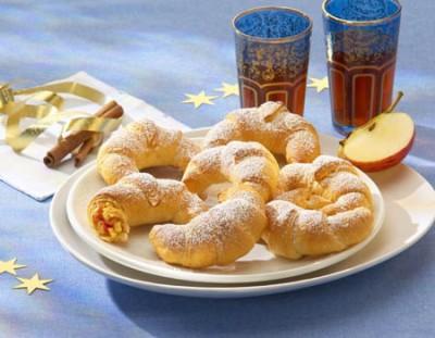 Mini-Croissants mit Apfel-Zimt-Füllung