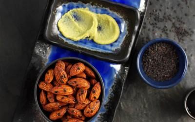 Mandeln mit Soja und Wasabi