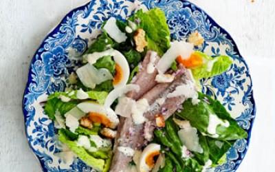 Caesar Salat mit Holländischem Matjes
