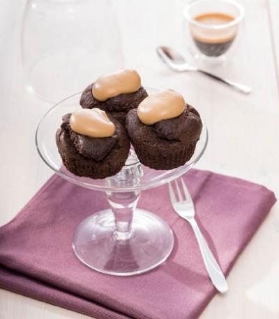 Schokoladen Cupcakes mit Espresso-Frosting