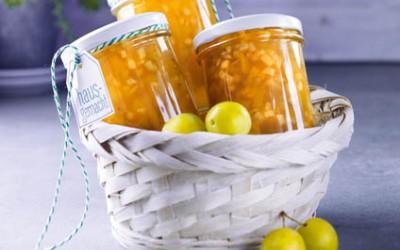 Apfel-Mirabellen-Konfitüre mit Cidre