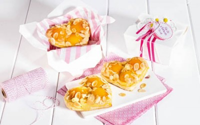 Aprikosen-Mandel-Herzen