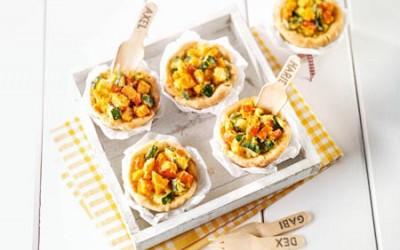 Kürbis-Zucchini-Törtchen