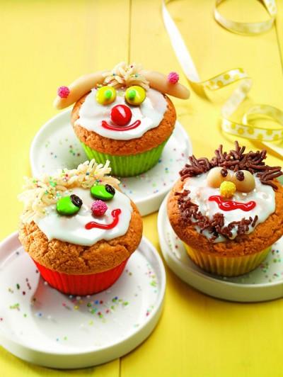 Lustige Muffin-Gesichter