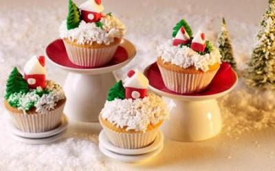 Weihnachtliche Landschaft auf Muffins
