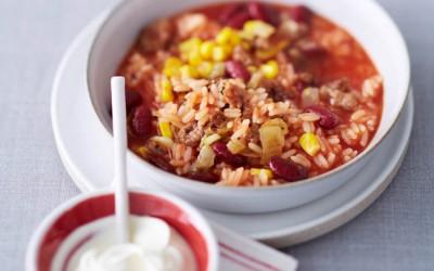 Schneller Reis-Chilitopf