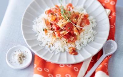 Reis mit Tomaten-Thunfischsauce