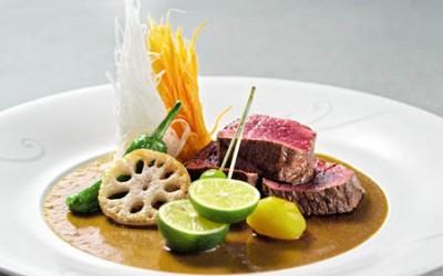 Gegrillte Rehsteaks mit Wasabi-Umeboshi-Sosse