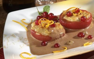 Karamellisierte Tomaten mit Sherry-Velouté