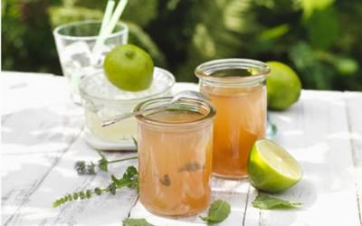 Limetten-Minz-Gelee mit weißem Rum