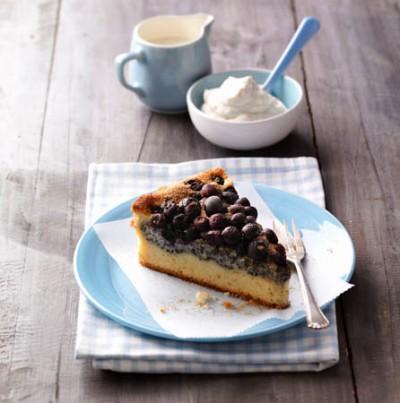 Heidelbeer-Mohnkuchen