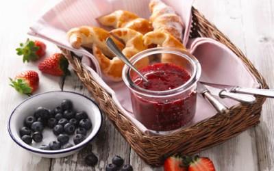 Fruchtaufstrich Heidelbeere-Erdbeere