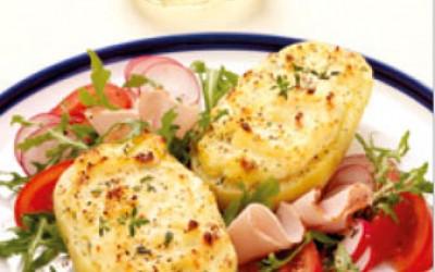 Überbackene Ofenkartoffel