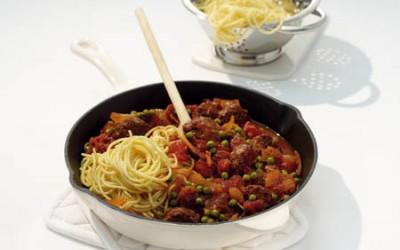 Spaghetti mit Frikadellen