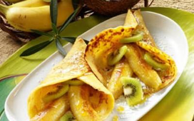Pfannkuchen mit Honig-Bananen
