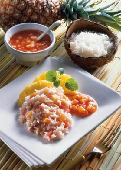 "Tomaten-Ananas-Reis ""Hawaii"""