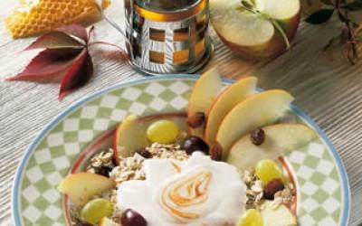 Früchtemüsli Apfel-Traube