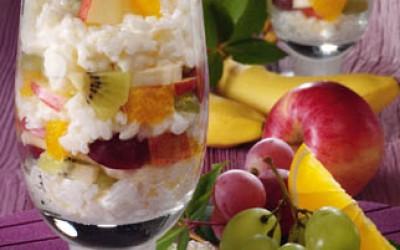 Milchreis mit frischem Obst