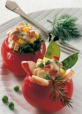 Gefüllte Tomaten mit Hummerkrabben