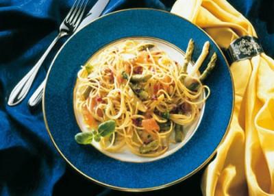 Feinschmecker-Spaghetti mit Spargel